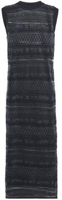 McQ Crochet-knit Midi Dress