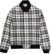 Carven Beige Large Check Wool Jacket