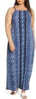 MICHAEL Michael Kors Chain Strap Print Maxi Dress