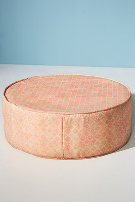 Anthropologie Moroccan Sherbert Clive Indoor/Outdoor Ottoman By in Orange Size ALL