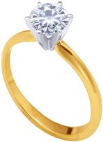 Stunning! 14k Yellow-gold 6.50mm (0.88CT Actual Weight, 1.00CT Diamond Equivalent Weight) Moissanite Solitaire 6-Prong Engagement Ring by Vicky K Designs - 5.0