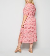 New Look Wednesday's Girl Curves Floral Midi Dress