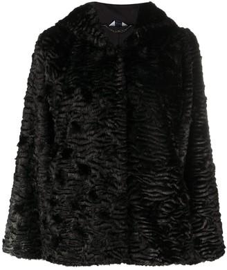 Liu Jo Faux-Fur Hooded Coat