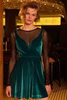 Urban Outfitters Heart Of The Ocean Sweetheart Velvet Mini Dress
