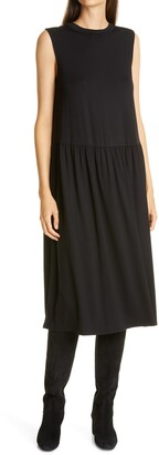 Eileen Fisher Drop Waist Sleeveless Dress