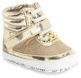 MICHAEL Michael Kors Infant Girl's 'Mae' High Top Crib Shoe