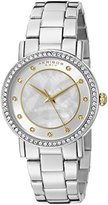 Akribos XXIV Women's AK880SS Round Silver and White Dial Three Hand Quartz Bracelet Watch