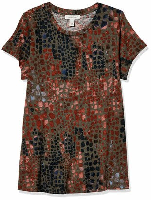 Vintage America Blues Women's Ashley Feminine Knit Short Sleeve Tee Shirt