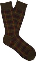 Pantherella Greenwich tartan wool-blend socks