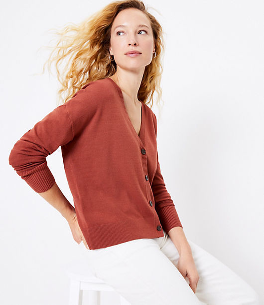 Thumbnail for your product : LOFT Relaxed V-Neck Cardigan