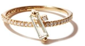 Suzanne Kalan Diamond, Topaz & 14kt Gold Ring - Yellow Gold