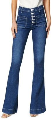 Ramy Brook Cindy Button-Fly Flare Jeans