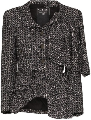 Chanel Tiger In The Rain reworked asymmetric tweed jacket