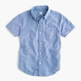 J.Crew Kids' short-sleeve critter vintage oxford shirt in fishing lures