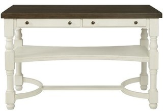 Alcott Hill Scroggins 2-Drawer Counter Height Table Antique Cream And Espresso Alcott Hill