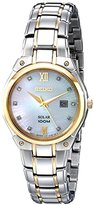 Seiko Women's SUT214 Two-Tone Stainless Steel Bracelet Watch with Diamond Markers