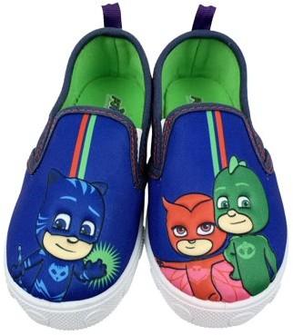 PJ Masks Toddler Boys' and Girls' Shoe; Canvas Slip-On Shoe; Catboy, Gekko, and Owlette; Blue; Toddler Shoe Size 8