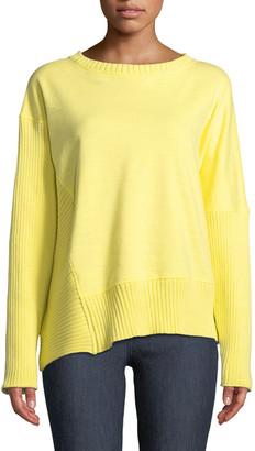 Neon Buddha South Beach Pullover Sweater w/ Asymmetric Hem