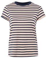 Topshop Stripe roll back t-shirt
