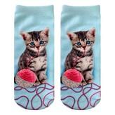 Living Royal - Kitten & Yarn Glitter Ankle Socks
