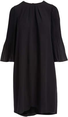 Minna Women's Career Dresses black - Black Pleated-Sleeve Shift Dress - Women