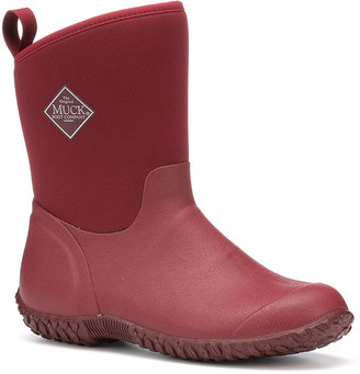 The Original Muck Boot Company Women's Rain boots Red - Red Fold-Over Muckster ll Mid-Rise Rain Boot - Women