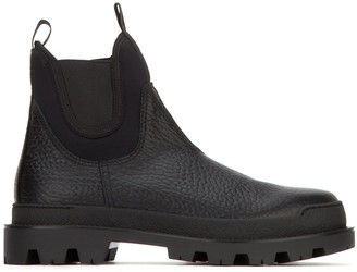 Prada Contrast Panelled Boots