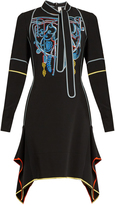 Peter Pilotto Neck-tie embroidered cady dress