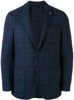 Lardini classic blazer - men - Cotton/Linen/Flax/Polyester - 48