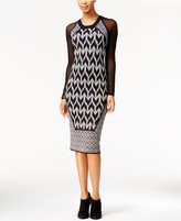 Rachel Roy Illusion Midi Sweater Dress