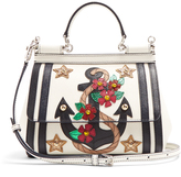 Dolce & Gabbana Sicily small Anchor-print leather cross-body bag