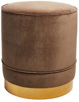 Kim Salmela Piper Stool - Cafe Velvet frame, brass; upholstery, cafe