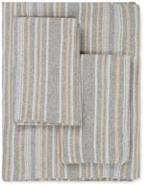 Belle Epoque Herringbone Stripe Flannel Sheet Set