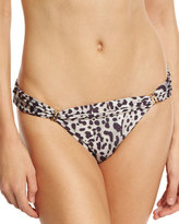 Vix Bia Deva Leopard-Print Full Swim Bottom, Gray