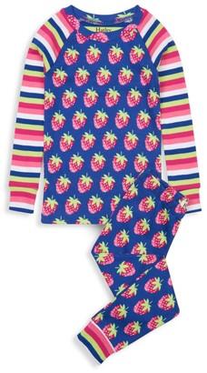Hatley Little Girl's & Girl's 2-Piece Strawberries Organic Cotton Pajama Set