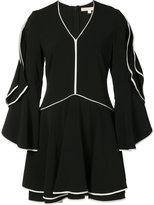 Jonathan Simkhai ruffled sleeve dress - women - Polyester/Spandex/Elastane/Acetate/Viscose - 2