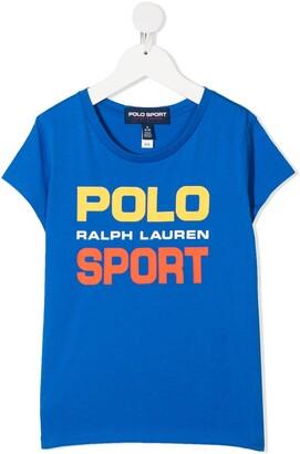Ralph Lauren Kids Bright Logo Print T-Shirt