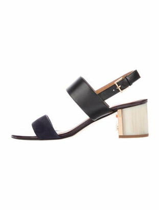 Tory Burch Gigi Calf Leather Slingback Sandals Black