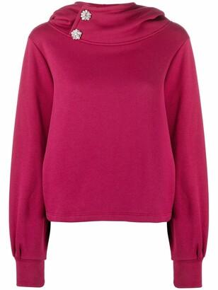 BA&SH Daren crystal-embellished sweatshirt