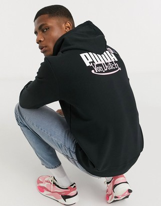 Puma x Von Dutch logo hoodie in black