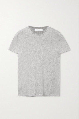 Ninety Percent Jenna Organic Cotton-jersey T-shirt - Gray