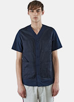 Oamc Men's Savannah Short Sleeved Shirt In Navy