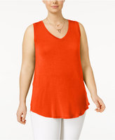Planet Gold Trendy Plus Size V-Neck Tank Top