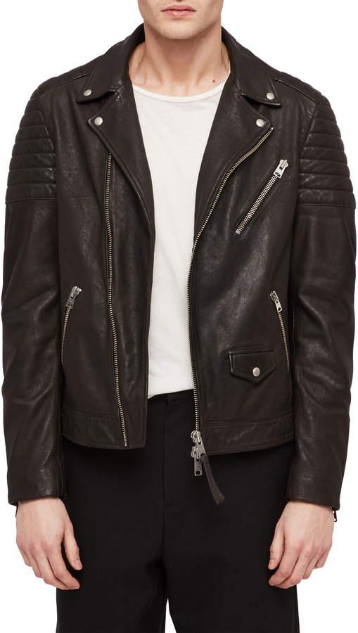 8188bd9c7 Leo Leather Biker Jacket