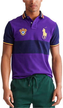 Polo Ralph Lauren Men Custom Slim Fit Big Pony Mesh Polo Shirt