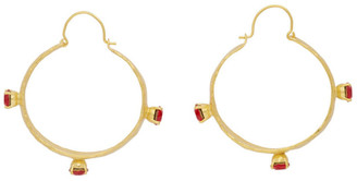 MONDO MONDO Gold Esprit Hoop Earrings