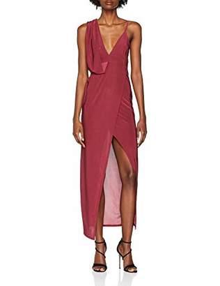 New Look Women's Slinky Drape 6089833 Party Dress,8 (Size:8)