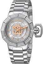 Roberto Cavalli Womens Silver Watch With Silver Dial.