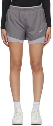Nike Grey Tempo Luxe 2-In-1 Shorts