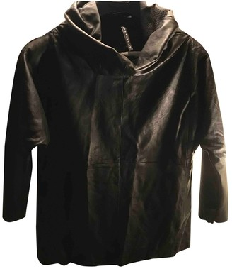 Liviana Conti Black Leather Leather Jacket for Women